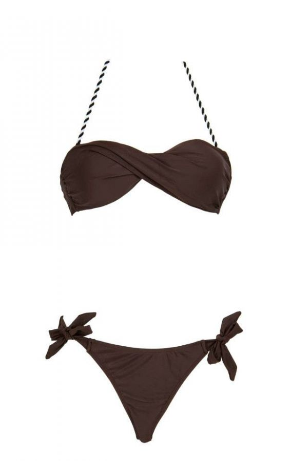 SS Choc Brown Bandeau Set