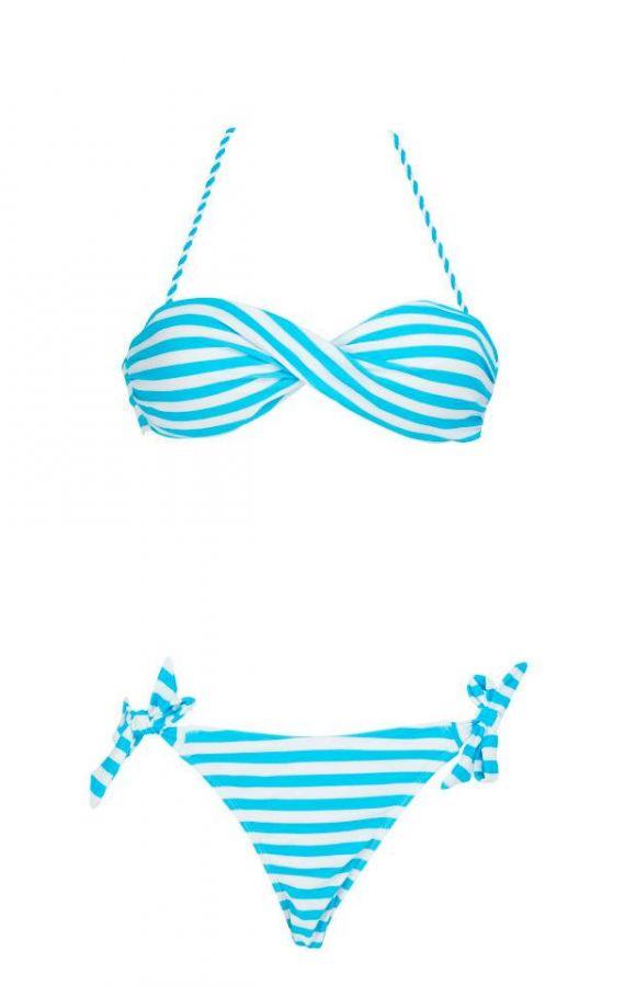 SS Aqua Stripes Bandeau