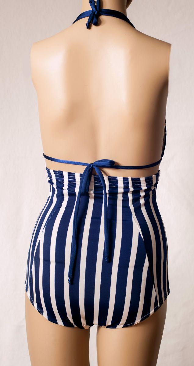 Blue Polka HalterTop (Back)